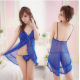 Blue Lace Sexy Lingerie   Code 974